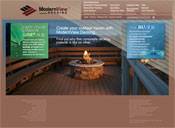 Internet Website Design for ModernView Decking
